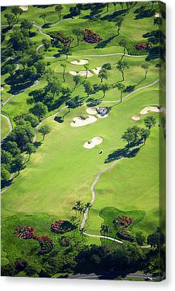 Wailea Gold And Emerald Courses Canvas Print by Ron Dahlquist - Printscapes
