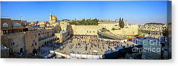 Haram Al Sharif / Temple Mount - Israel / Palestine Canvas Print by Wietse Michiels