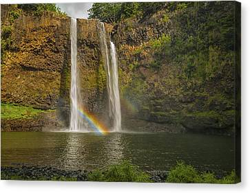 Wailua Falls Rainbow Canvas Print by Brian Harig
