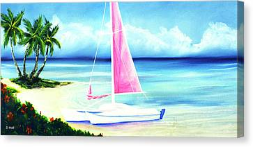 Waimanalo Beach #187 Canvas Print by Donald k Hall