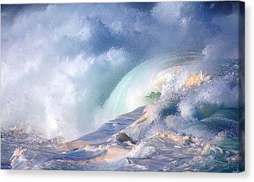 Waimea Bay Shorebreak Canvas Print by Kevin Smith