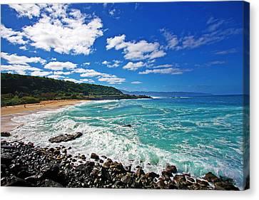 Waimea Bay Canvas Print by Ty Helbach