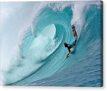 Waimea Bodyboarder Canvas Print by Kevin Smith
