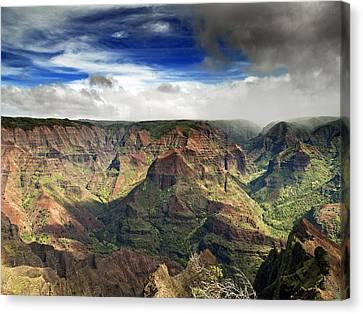 Waimea Canyon Hawaii Kauai Canvas Print by Brendan Reals