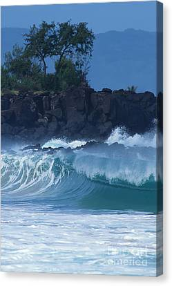 Canvas Print featuring the photograph Waimea Shorebreak by Stan and Anne Foster