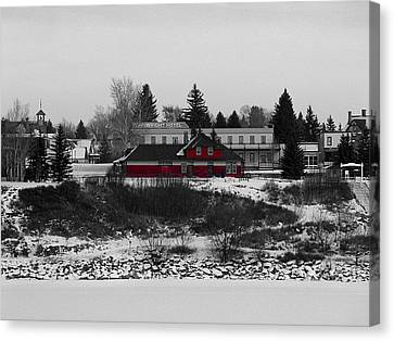 Canvas Print featuring the photograph Heritage Park by Stuart Turnbull