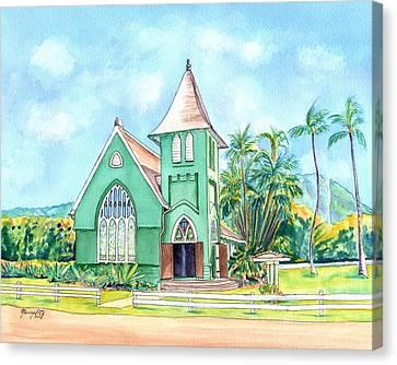 Wai'oli Hui'ia Church Canvas Print