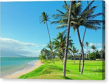 Canvas Print featuring the photograph Waipuilani Beach Kihei Maui Hawaii by Sharon Mau