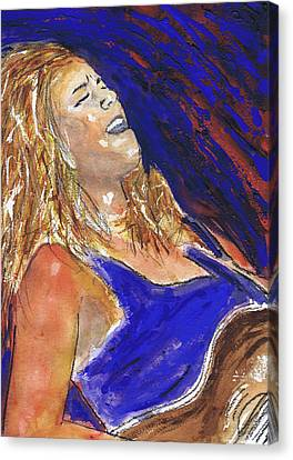 Waited For June A Portrait Of Megan Burtt Canvas Print by Charles Snyder