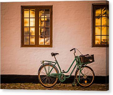 Two Wheeler Canvas Print - Waiting At The Light by Odd Jeppesen