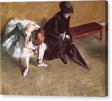Waiting Canvas Print by Edgar Degas