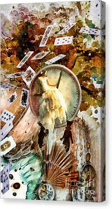 Mad Hatter Canvas Print - Waiting For Alice by Mo T