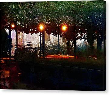 Meeting. Point Canvas Print - Waiting For Customers At Bar Sport Villastrada  by Dorothy Berry-Lound