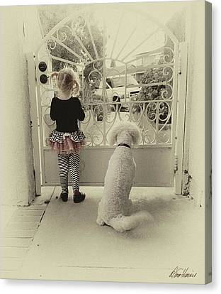 Waiting For Dad Canvas Print