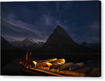 Waiting For Dawn Canvas Print by Andrew Soundarajan