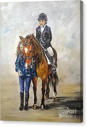Waiting For Dressage Canvas Print by Isabella F Abbie Shores FRSA