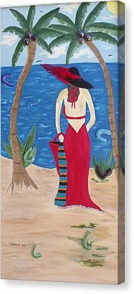 Waiting For Her Lover Canvas Print by Alanna Hug-McAnnally