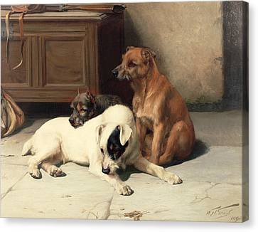 Waiting For Master Canvas Print by William Henry Hamilton Trood
