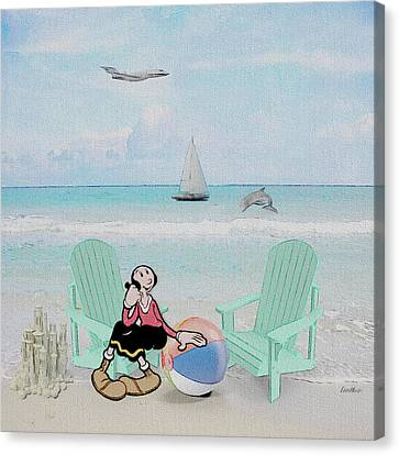 Waiting For Popeye Canvas Print by Ericamaxine Price