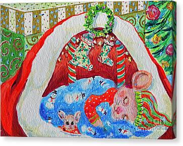 Waiting For Santa Canvas Print by Li Newton