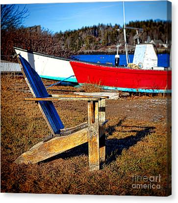 Waiting For Spring In Maine Canvas Print by Olivier Le Queinec