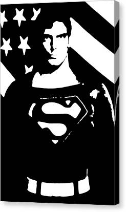 Canvas Print featuring the digital art Waiting For Superman by Saad Hasnain