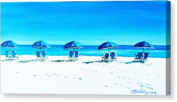 Waiting For The Beach Sitters Canvas Print