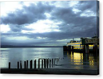 Waiting For The Ferry Canvas Print