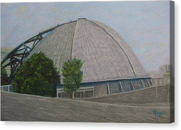 Waiting For The Next Event Mellon Arena Pittsburgh Canvas Print by Joann Renner