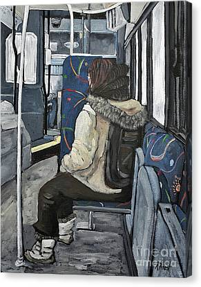 Waiting For The Stop Canvas Print by Reb Frost