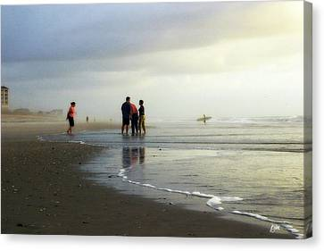 Canvas Print featuring the photograph Waiting For The Sun by Phil Mancuso