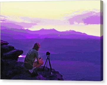 Waiting For The Sunrise - Dead Horse Point Utah Canvas Print by Steve Ohlsen