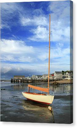 Waiting For The Tide Canvas Print by Roupen  Baker