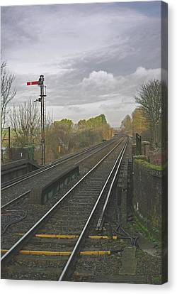 Waiting For The Train Canvas Print by Peter Spence-knight