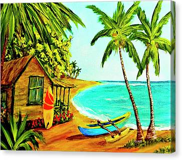 Waiting For The Waves Hawaii #387  Canvas Print by Donald k Hall