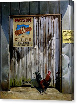 Shed Canvas Print - Waiting For Watson 2 by Doug Strickland