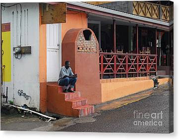 Canvas Print featuring the photograph Waiting by Gary Wonning