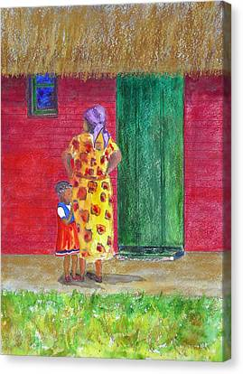 Waiting In Zimbabwe Canvas Print