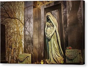 Waiting Lady  Powazki Cemetery Warsaw  Canvas Print