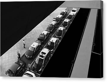 Waiting Lines Canvas Print by Paulo Abrantes