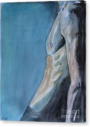 Waiting Man Canvas Print