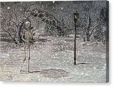 Winter Storm Canvas Print - Waiting On A Friend by Betsy Knapp