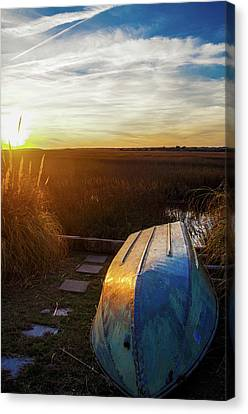 Waiting On The Tide Canvas Print by Gerald Monaco