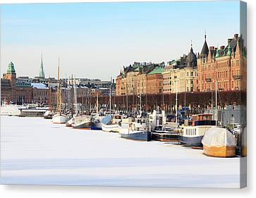 Canvas Print featuring the photograph Waiting Out Winter by David Chandler