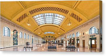 Saint Paul Union Depot Waiting Room  Canvas Print by Jim Hughes
