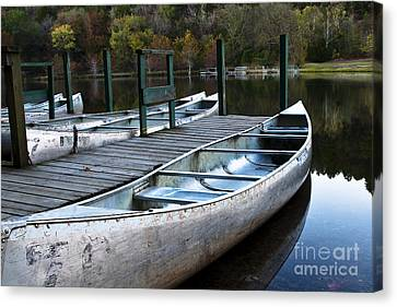 Canvas Print featuring the photograph Waiting by Tamyra Ayles