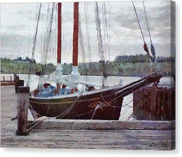 Waiting To Sail Canvas Print by Jeff Kolker