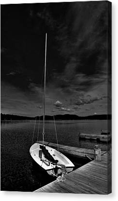 Waiting To Sail On Fourth Lake Canvas Print by David Patterson