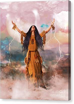 Calling Canvas Print - Wakan Tanka The Great Spirit by Shanina Conway