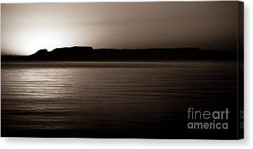 Wake Before The Giant Canvas Print by James Brown